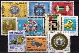 UAE - Lot 1980 - 1989  Used - Ver. Arab. Emirate