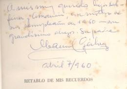 MANUEL GALVEZ AUTOGRAFO SOBRE LIBRO DEDICADO A SUS HIJOS DELFINA  Y AMANCION EN 1960 RARISIME TOP COLLECTION AUTOGRAPHES - Autographs
