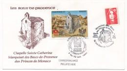 """FRANCE/MONACO -Envel. Type FDC - Cachet """"Marquisat Des Baux Des Princes De Monaco"""" Et Cachet Monégasque 7-5-1993 - Marcophilie (Lettres)"""
