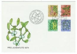 Suisse//Schweiz//Svizerra // Switzerland//Pro- Juventute 1974 Lettre (FDC) Avec Série Oblitérée 1er Jour - Pro Juventute