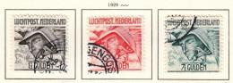 Niederlande 1929°, Flugpostmarken / Netherlands 1929, Used, Airmail Stamps - 1891-1948 (Wilhelmine)