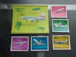 TCHAD (1973) AVIONS : Concorde,boing 747... - Chad (1960-...)