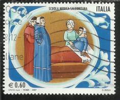 ITALIA REPUBBLICA ITALY REPUBLIC 2007 SCUOLE D'ITALIA SCUOLA MEDICA SALERNITANA USATO USED OBLITERE' - 6. 1946-.. Repubblica