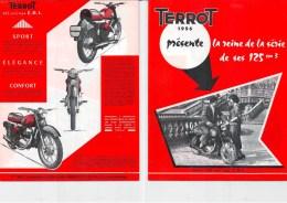 """Publicité 1956 TERROT DIJON Vélomoteur 125 Cm3 """"La Reine De La Série"""" TYPE E.D.L. - Motor Bikes"""