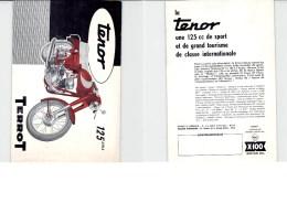 "Publicité Motos TERROT DIJON  "" Ténor 125 Cm3"" Au Verso Pub SHELL X-100 - Motor Bikes"