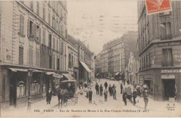 CPA 75 PARIS X Rue De Sambre Et Meuse à La Rue Claude Vellefaux Commerces Animation 1914 - District 10