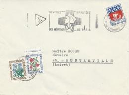 "France, Postage Due, Flowers, Myosotis And Clover, 1964, VFU On Cover Postmark ""nurse"" - Segnatasse"