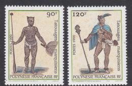 French Polynesia SG 845-46 1999 Ibra Tattoos MNH - French Polynesia