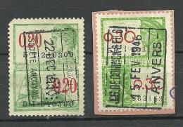 BELGIEN Belgium Revenue Fiscal Tax Steuermarken 0,20 & 0,30  O - Revenue Stamps