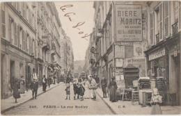 CPA 75 PARIS IX Rue Rodier Commerces Hôtel Brocanteur Bric à Brac Meubles Animation 1908 - District 09