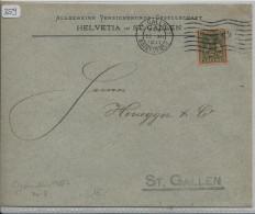 Pro Juventute 1917 J8 Unterwaldnerin - Helvetia Versicherungen St. Gallen - Pro Juventute