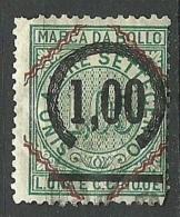 ITALIA ITALY Revenue Tax Fiscal Marca Da Bollo OPT O - 1878-00 Humbert I.
