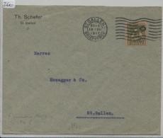 Pro Juventute 1917 J8 Unterwaldnerin - Th. Schefer St. Gallen - Pro Juventute