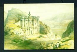 JORDAN  -  Petra  El Deir  Painting 1839 By David Roberts  Unused Postcard - Jordan