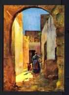 MALTA  -  Country Lane  Caruana Dingli Painting  Unused Postcard - Malte