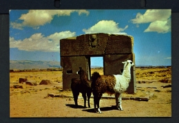 BOLIVIA  -  Tiahuanacu  Puerta Del Sol  Unused Postcard - Bolivia
