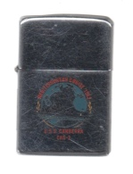 ZIPPO - U.S.S. CANBERRA - CAG-2 - Chromé, Année 1961 - Réf, 634 - Zippo