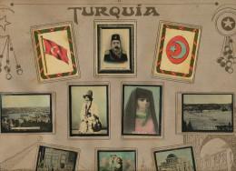 Set Of 10 Pictures Hand Color Turkey Advert Susini Cigars Cuba Mohamed V, Bebek, Dancer, Selamik In Istanbul Etc - Turquia