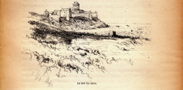 1885 - Gravure Sur Bois - Plévenon (Côtes-d´Armor) - Le Fort La Latte - FRANCO DE PORT - Stiche & Gravuren
