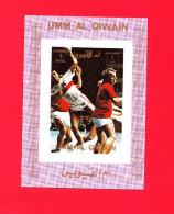 UMM AL QIWAIN. OLYMPIC GAMES 1972. HANDBALL. LUX-BLOCK IMPERFORATED** - Verano 1972: Munich