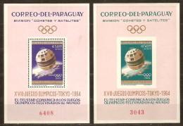 Paraguay 1964 Micheln° Bloc 54-55 *** MNH  Tokyo Tokio Jeux Olympiques - Paraguay