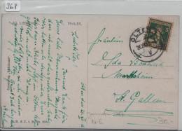 Pro Juventute 1916 J5 Berner Sennenbub Ak Von Olten Nach St. Gallen - Pro Juventute