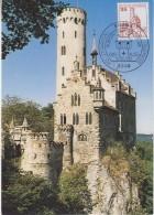 Berlin 1982 Burgen Und Schlosser / Schloss Lichtenstein 1v Maxicard (30467) - [5] Berlijn