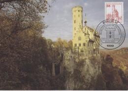 Berlin 1982 Burgen Und Schlosser / Schloss Lichtenstein 1v Maxicard (30470) - [5] Berlijn