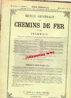 REVUE GENERALE CHEMINS DE FER ET TRAMWAYS- TRAMWAY- MARS 1913- N° 3- ANGLETERRE-INDE 1910-HOLLANDE-AMERIQUE - Books, Magazines, Comics