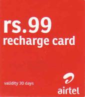 Sri Lanka Recharge Airtel 99 Rs Card - Sri Lanka (Ceylon)
