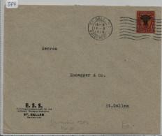 Pro Juventute 1918 J10 Uri - E.S.S. Stickerei Industrie St. Gallen - Lettres & Documents