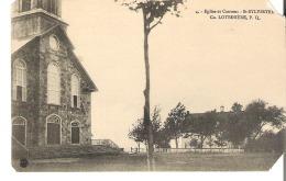 4. - Eglise Et Couvent - St-Sylvestre, Co. Lotbiniere, Quebec Les 2 Coins A Droite Sont Coupee - Quebec