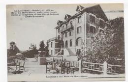 LA LOUVESC EN 1931  - L´ ENSEMBLE DE L´ HOTEL DU MONT BESSET - CASSURE ANGLE HAUT A DROITE - CPA VOYAGEE - La Louvesc