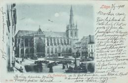 Carte à La Lune -  Liège - La Cathédrale - 1901 - Liege