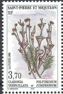 1996 Saint Pierre Et Miquelon N° 626  Nf** . Flore. Cladonia Vercticillata Et  Polytrichum Juniperinum - Neufs
