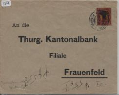 Pro Juventute 1918 J10 Uri - Von Grüneck B. Müllheim Nach Frauenfeld - Pro Juventute