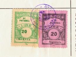 Potenza. 1962. Marche  Municipali Su Certificato Di Residenza - Italie