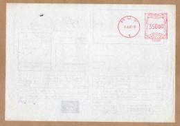 Taxi Post Huy Cachet Valeur Au Verso - 2 Scans - Postdokumente