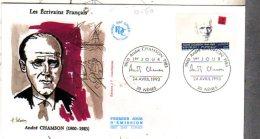 30  NIMES  André Chamson 1900/1983 Romancier  24/04/93 - Escritores
