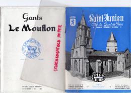 87 - SAINT JUNIEN - DEPLIANT TOURISTIQUE 1956- GANTERIE GANTS LE MOFLON- BARDET-RATINAUD-GANTS PENETTE ST LAURENT GORRE- - Tourism Brochures
