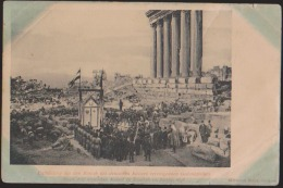 CPA:Liban:Baalbek:Visite Du Kaiser En 1898: Rare - Líbano