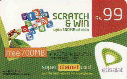 Sri Lanka Prepaid Internet Card 99 Rs Etisalat - Cinema & TV