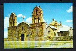 BOLIVIA  -  La Paz  Laja's Church  Unused Postcard - Bolivia