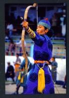 MONGOLIA  -  Archer  Unused Postcard - Mongolia