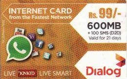 Sri Lanka Prepaid Internet Card 99 Rs Dialog - Cinema & TV