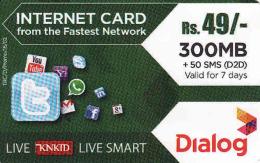 Sri Lanka Prepaid Internet Card 49 Rs Dialog - Cinéma & TV