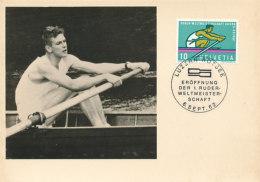 D23910 CARTE MAXIMUM CARD 1962 SWITZERLAND - ROWING LUZERN ROTSEE CP ORIGINAL - Rowing