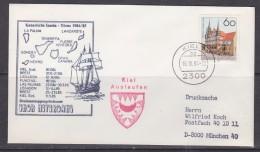 Germany 1984 Dreimasttopsegelschiner Thor Heyerdahl Cover Ca Kiel 16.10.84 (F5214) - Brieven En Documenten