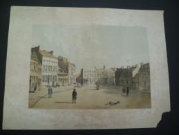 Peruwelz. Hôtel-De-Ville. Lithographie Originale De Hoolans. Vers 1850 - Estampes & Gravures