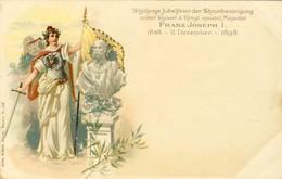 FRANZ JOSEPH I, 1848 - 2 Dezember - 1898, 2 Scans - Familias Reales